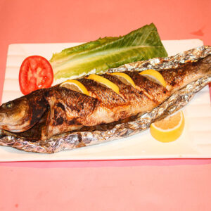 Sea Bass Fried or Grilled (1kg) / قاروص مقلي او مشوي